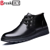 New Men Winter Boots Snow Boots For Men Ankle Boots Warm With Plush Fur Fashion Men