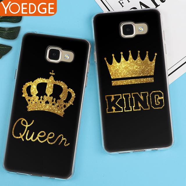 07994bef305 King Queen Case For Samsung Galaxy S6 S7 Edge S8 S9 Plus A3 A5 A6 A8 ...