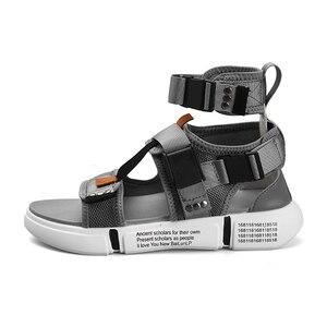 Image 2 - ZUNYU 2019, nueva moda de verano para hombre, zapatos de Gladiador, sandalias con plataforma abierta, sandalias de playa, botas, estilo romano, sandalias de lona para hombre