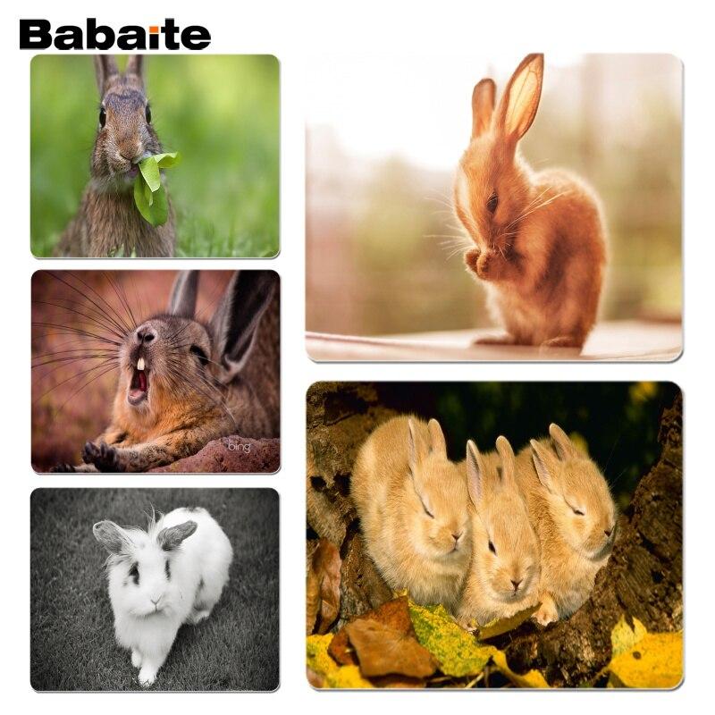 Babaite Нескользящие PC милый кролик офис мыши Gamer мягкие Мышь Pad Размеры для 18x22 см 25x29 см резиновая Мышь коврики