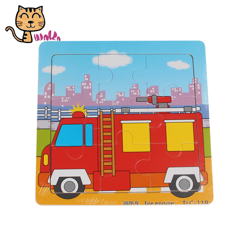 Kids Wooden Toys Traffic Wooden Jigsaw Puzzle Cartoon Car Fire Truck Puzzle Wood Kids Toys For Boys Girls Puzzles Magic Cubes Wooden Toys Wood Kidskids Wooden Toy Aliexpress