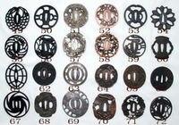 A Zinc Alloy Tsuba be used katana hand guard 3pcs (choose the number)