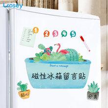 Белая доска с фламинго магнитный блокнот для заметок на холодильник