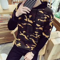 Gray Sweatshirt Hip Hop Hoodies Men Walking Hoodie Assassin Creed Male Pullover Hooded Sweatshirts With A Zipper Camouflage W123