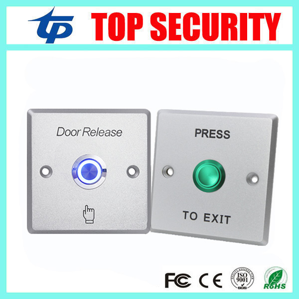 NO/NC/COM DOOR Exit Button Exit Switch For Door Access Control System Zinc Alloy Door Push Exit Door Release Button Switch lpsecurity stainless steel door access control led backlit led illuminated push button door lock release exit button switch
