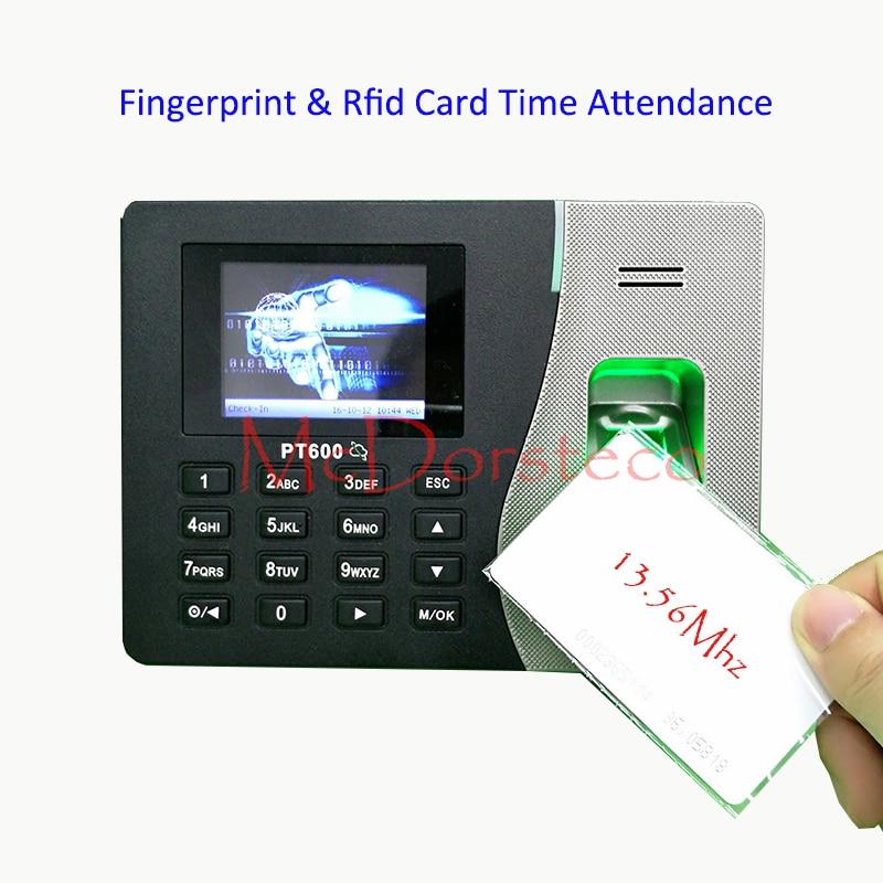 Tcp/ip Fingerprint & RFID 13.56Mhz IC Card Time Attendance System Employee Fingerprint Time Management System Card Time Clock