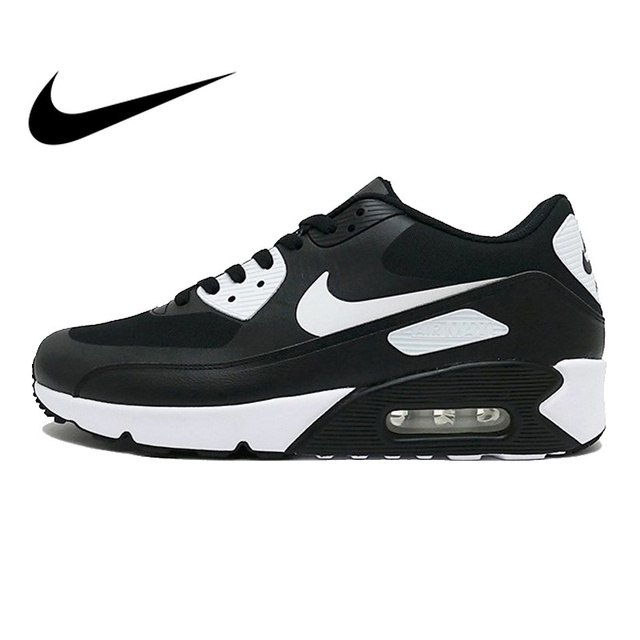 Original NIKE AIR MAX 90 ULTRA 2.0 Men's Running Shoes Sneakers Breathable Sport Outdoor Men Sneakers Black and White 875695