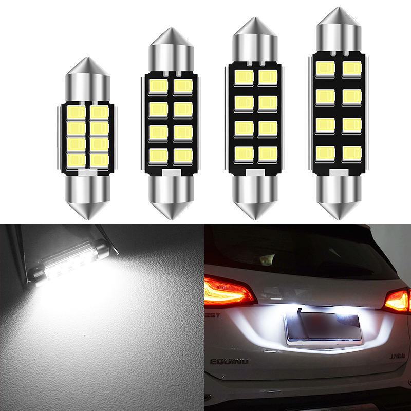 1x Car <font><b>led</b></font> c5w <font><b>led</b></font> <font><b>bulb</b></font> CANBUS <font><b>12V</b></font> Festoon 28mm 31mm 36mm 39mm 41mm c5w c10w reading lamp car Interior Light 2835 SMD white image