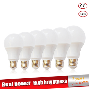 цена на 5pcs/lot Real power Led Lamp E27 220V led Light 3W 6W 9W 12W 15W 18W 21W Luz ampoule lampadas de Bombillas LED Bulb Spotlight