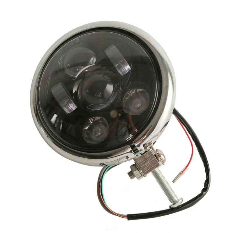 3/4 светодио дный 5 прожектор дневного света мотоцикл светодиодные фары 5,75 w/корпус для Harley