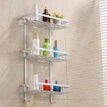 3 Tier Storage Shelf Bathroom Towel Aluminium Rack Shower Caddy Kitchen Wall Mount Soap Dish Shelf Organizer Holder