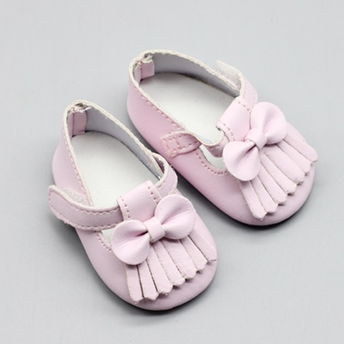 New Fashion Baby Doll Shoes 7cm Shoes Leather Boots With Bow Fits 43cm Dolls Baby And 18