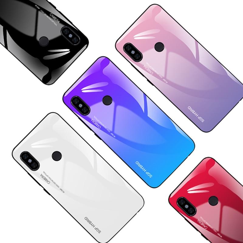 Gradient Téléphone cas pour xiaomi redmi 5 Plus Coloré Cas Pour redmi note 5 pro 5A 4X6 6A S2 Verre mode shell Couverture Coque
