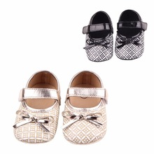 Chinese retro style Soft Bottom Fashion Baby Moccasin Newborn Babies Shoes 2-colors PU leather Prewalkers Kids Shoes