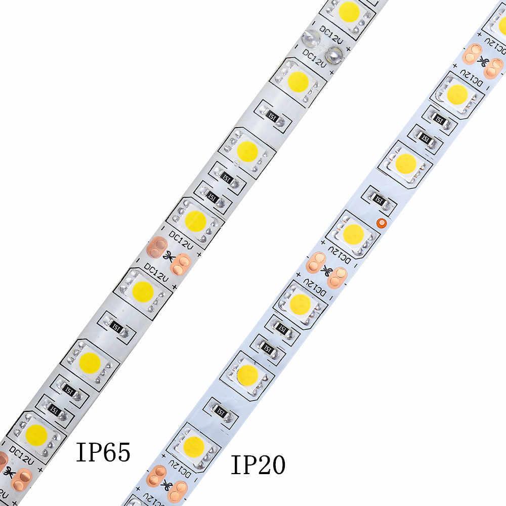 LED Bande 5050 DC12V 60LED s/m 5 m/lot Flexible lumière LED RVB RGBW 5050 LED Bande