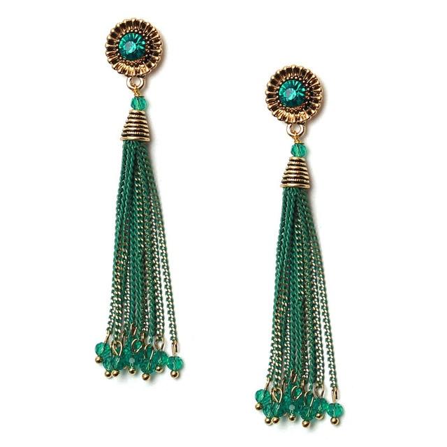 Olsen Twins Vintage Style Crystal Bead Chain Tassel Earrings For Women 2017 Winter Costume Accessories Jewelry  sc 1 st  AliExpress.com & Olsen Twins Vintage Style Crystal Bead Chain Tassel Earrings For ...