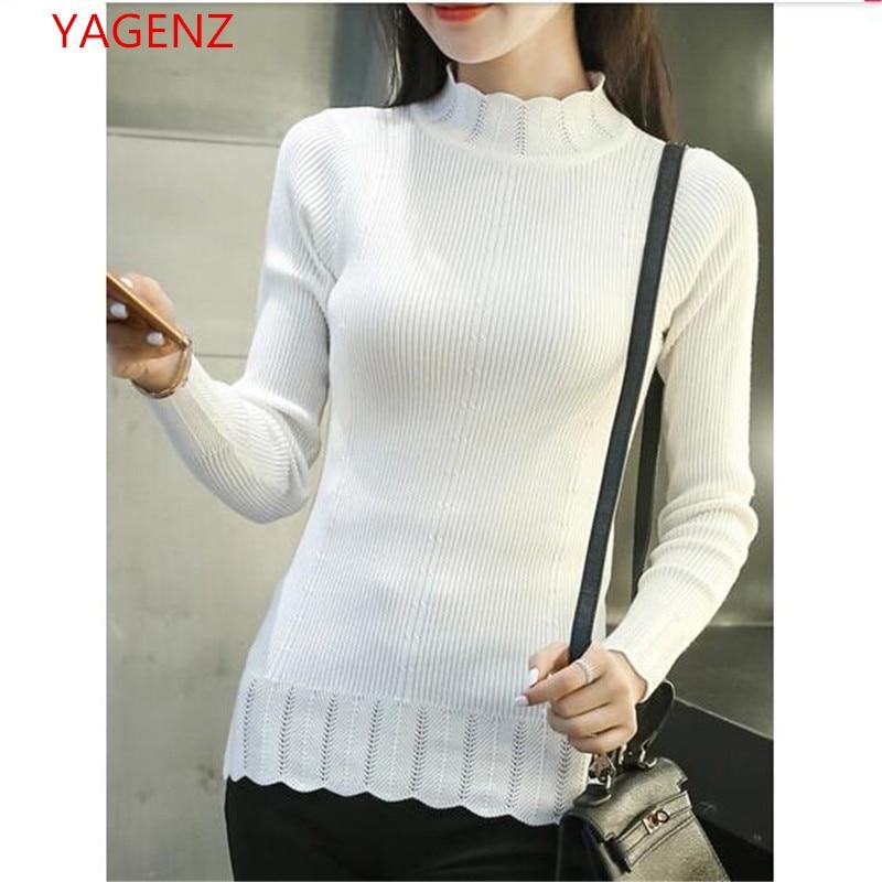 YAGENZ Sweater Women Turtleneck Knitting Long-Sleeve Autumn Winter And Tops BN2139 Half-A