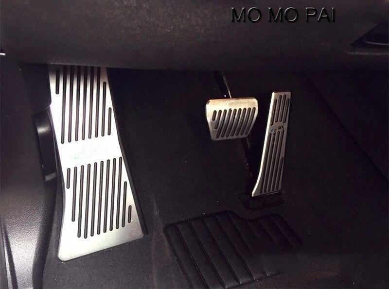 3 pièces adapté pour BMW X5 X6 2014-2016 Auto pédale en aluminium Set à pédale antidérapant automatique - 4