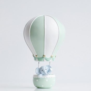 Creative home decoration resin crafts hot air balloon jewelry cute rabbit elephant home soft decoration gifts
