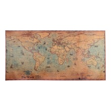 colorful world map wall decor 150x225cm large world map office supplies detailed antique poster wall chart for culture supplies 100x50cm Large Size World Map Kraft Paper Vintage Wall Sticker Bar Cafe Pub Poster Wall Decor