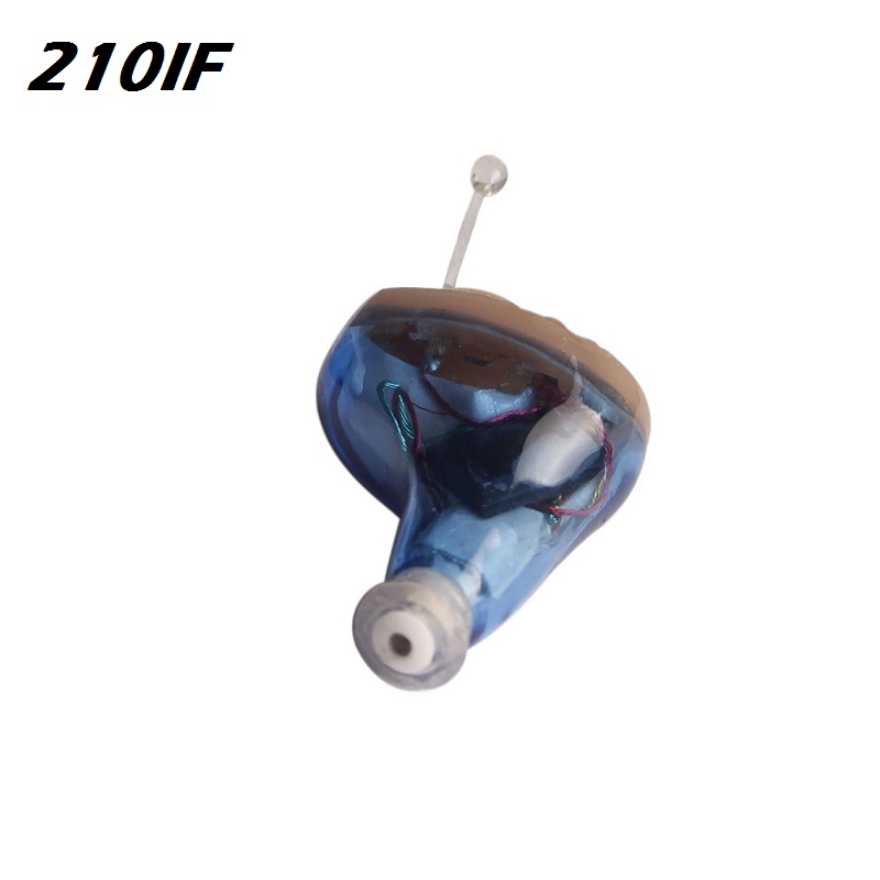 AcoSound Mini Invisible CIC Hearing Aid 210IF Digital Hearing Aids For The Elderly With Earplugs In The Ear Sound Amplifier 2pcs pairing left
