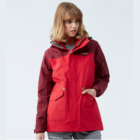 Long Athletic 3 In 1 Winter Warm Women Hiking Jackets Sport Outdoor Hunting Clothes Hiking Clothing Rain Jaket Red Blue Khaki