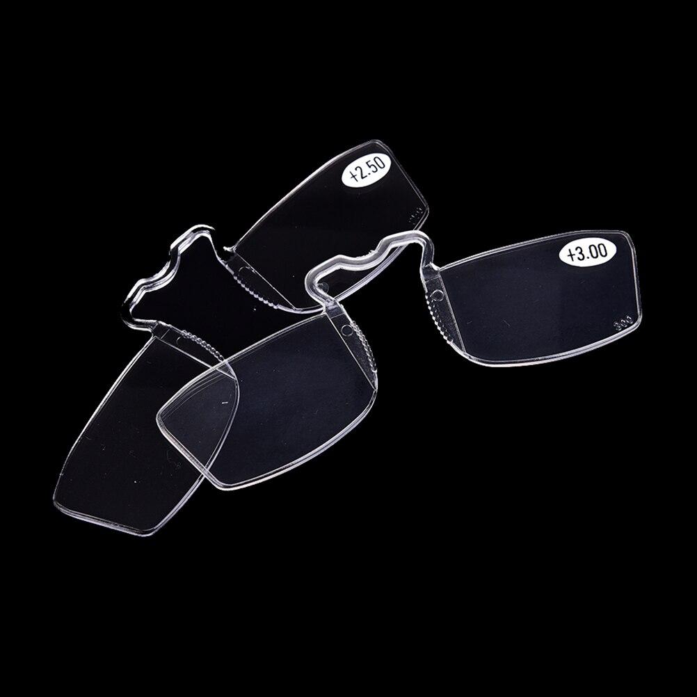1 ud. Gafas de lectura sin montura con Clip en la nariz + 1 + 1,5 + 2 + 2,5 + 3 gafas pequeñas con Clip para la nariz
