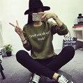 5 Cores Camisola O-pescoço 2016 Outono Inverno Carta Padrão Camisa Camisola Solta Harajuku Moletom Mulheres Plus Size XL