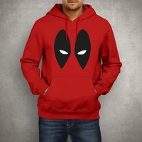 DEADPOOL EYES Men S Hooded Hoodies DC Comics Printed Fashion Sweatshirts Long Sleeve Cotton Man Pullovers