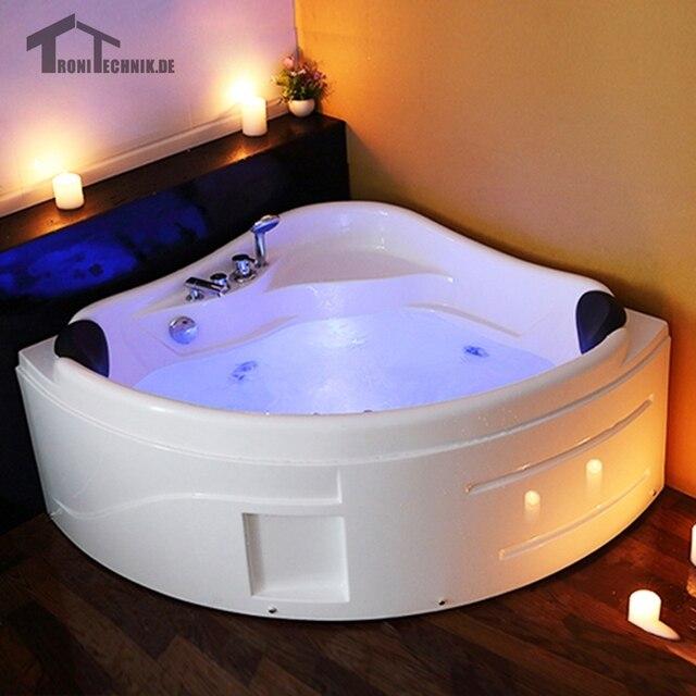 1300mm whirlpool Spa Massage Muur Hoek Bad vrijstaand Glas Acryl ...