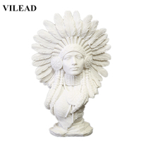 VILEAD 30cm 11.8'' Sandstone Indian Woman Figurines Vintage Home Decor Indian Statuettes Christmas Decorations for Home Office