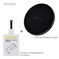 Qi Fast Wireless Charger 10W Quick Charge Phone Charger TI Chip Wireless Charger Receive For Iphone