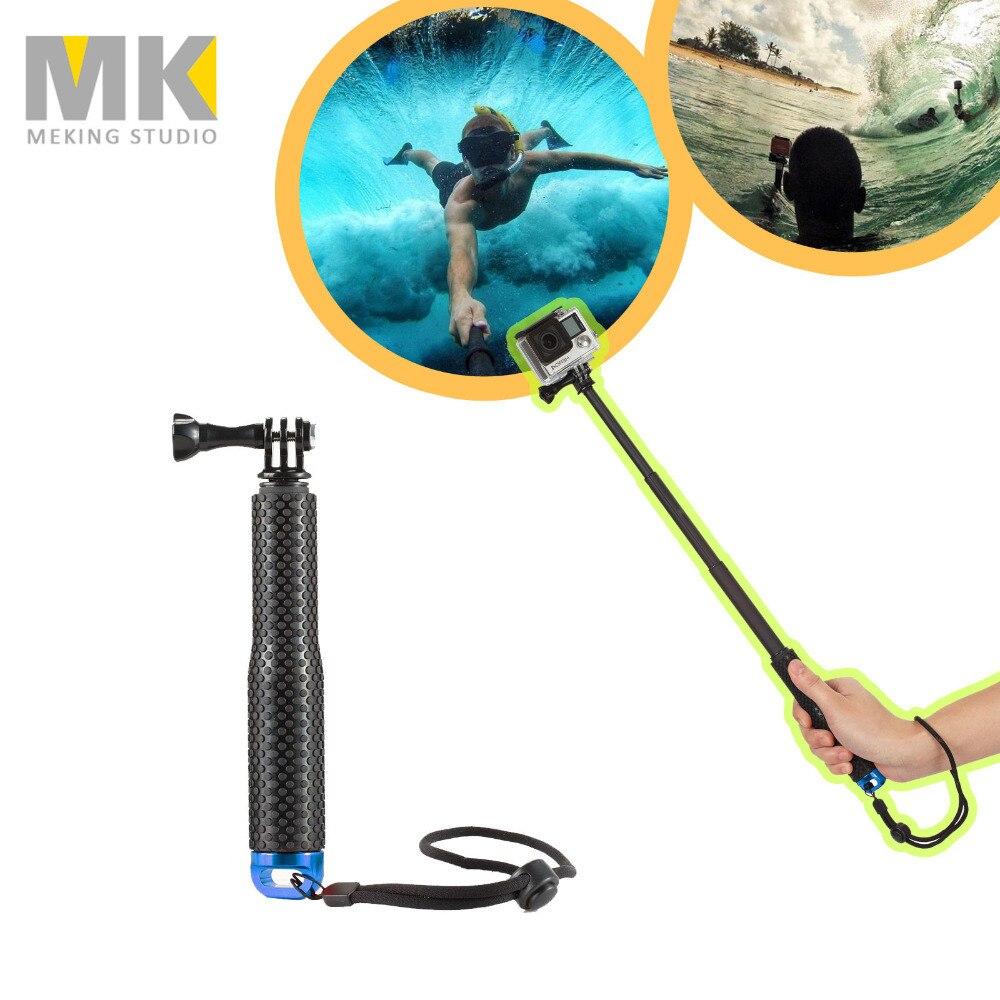 49cm GoPro Selfie Stick Aluminum Extendable Pole Telescoping Handheld Monopod for GoPro Hero SJ4000 SJ5000 SJCAM Summer Style