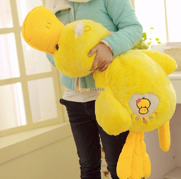 Fancytrader 39'' / 100cm Lovely Stuffed Giant Plush Yellow Rubber Duck, Nice Gift and Decoration Toy, Free Shipping FT50268 free shipping 50cm big yellow duck toy stuffed giant animals plush toy cute yellow duck doll kids toy birthday gift baby doll