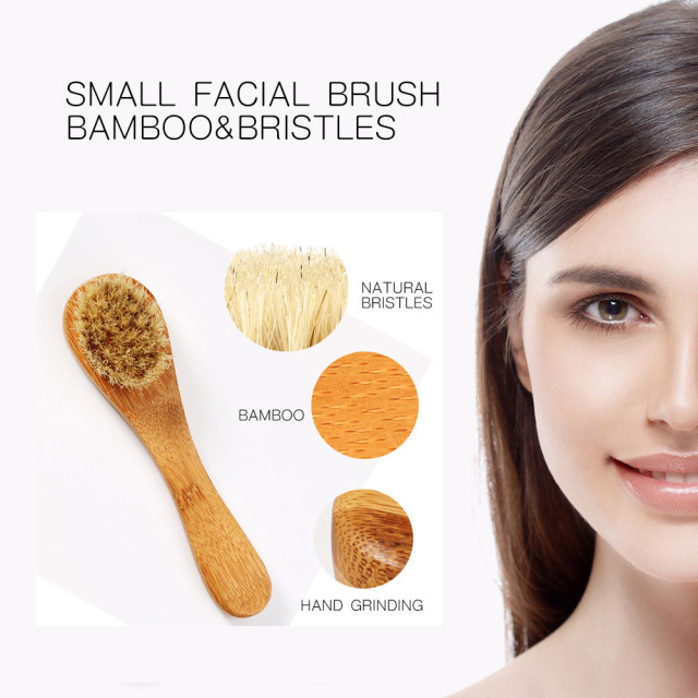 Natural facial brush