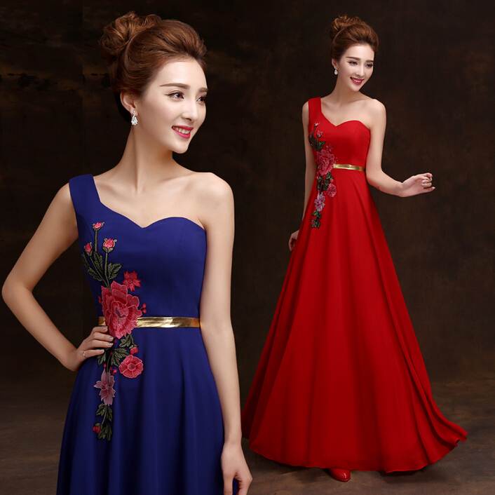 robe de soiree red long dress women formal sexy party dresses elegant one shoulder evening gowns to wear to a wedding w2793