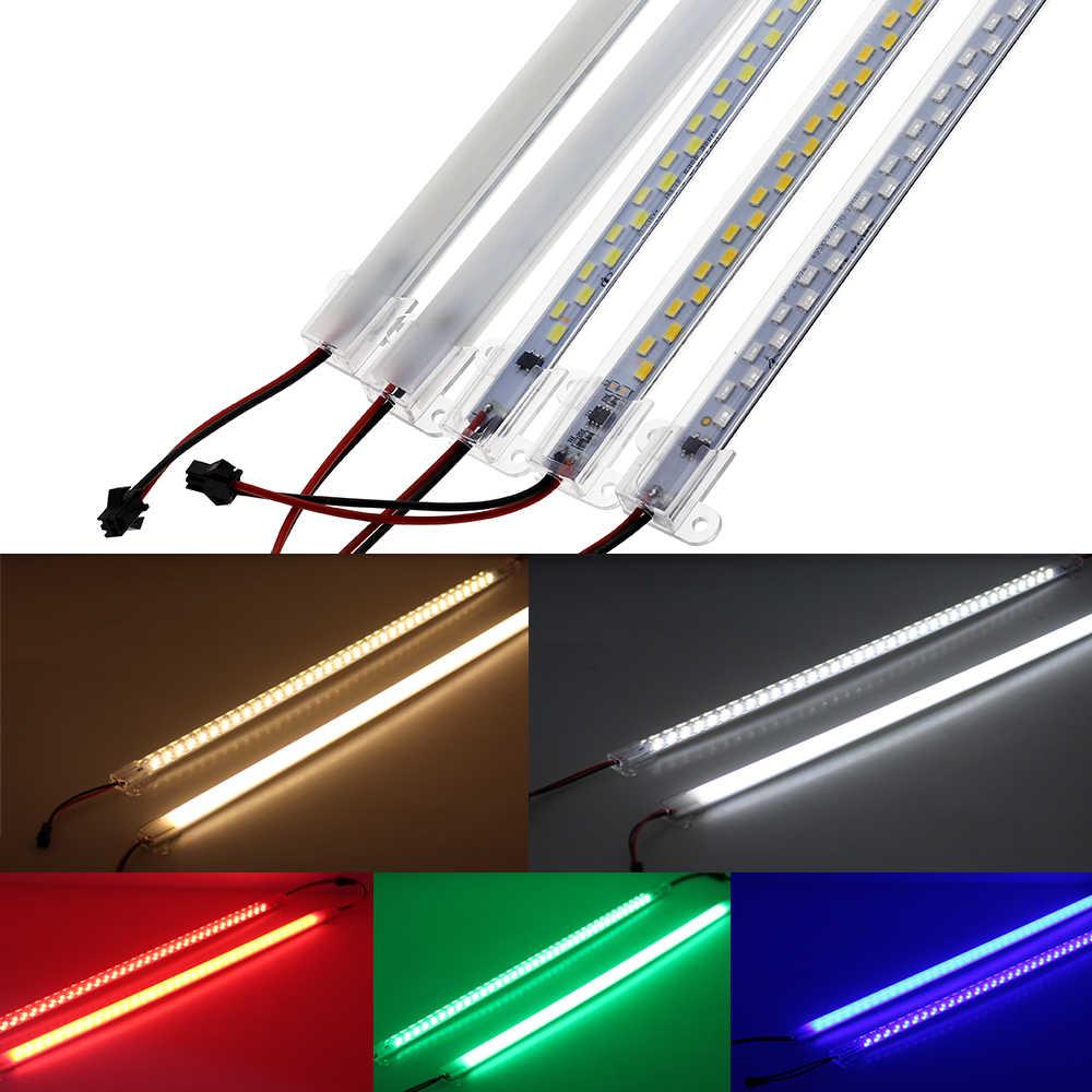 Светодиодный трубки AC220V высокое Яркость 5730 72 светодиодный s 50 см энергосберегающие люминесцентные лампы светодиодные 5 шт./лот.