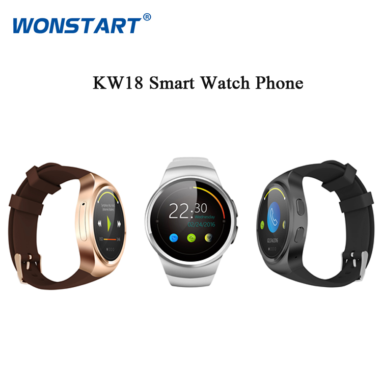 2016 Bluetooth Round Smart Watch Phone Mini SIM Heart Rate Tracker NFC for Apple iphone IOS/Samsung Android Phones no 1 g4 smart watch mtk6261a bluetooth heart rate health tracker smart watch for ios android phones for iphone
