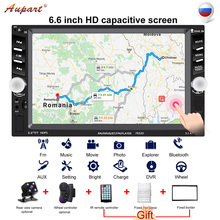 Double Din Radio with Rear View Camera 2din Car Stereo Auto Multimedia for Car Mp3 Player EU Warehouse for Russian Wheel Control