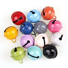 Металлический школьный колокольчик круглой формы 22 мм 6 шт. медные колокольчики для шарма ожерелье с колокольчиками подходит для фестиваля/вечерние/для домашних животных