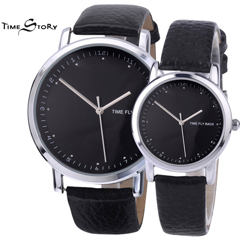 Brand 1Pair Fashion Classic Lovers Watch Men Women s Anti clockwise Quartz Wristwatch Logo Customized For