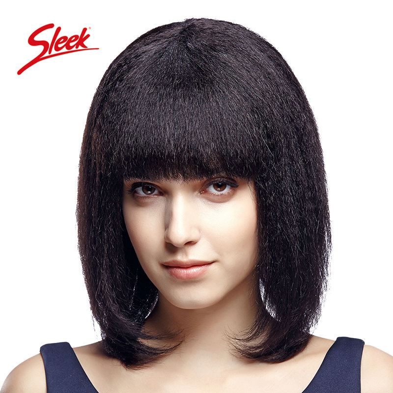 Sleek full lace human hair wigs 100 perruque cheveux humain Italian yaki full lace wig Kinky