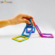 MrPomelo 14Pcs Magnetic Blocks Set Kids Magnetic Toys Construction Building Tiles Blocks for Children Creativity Educational Toy