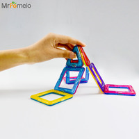 MrPomelo 14Pcs Magnetic Blocks Set Kids Magnetic Toys Construction Building Tiles Blocks For Children Creativity Educational