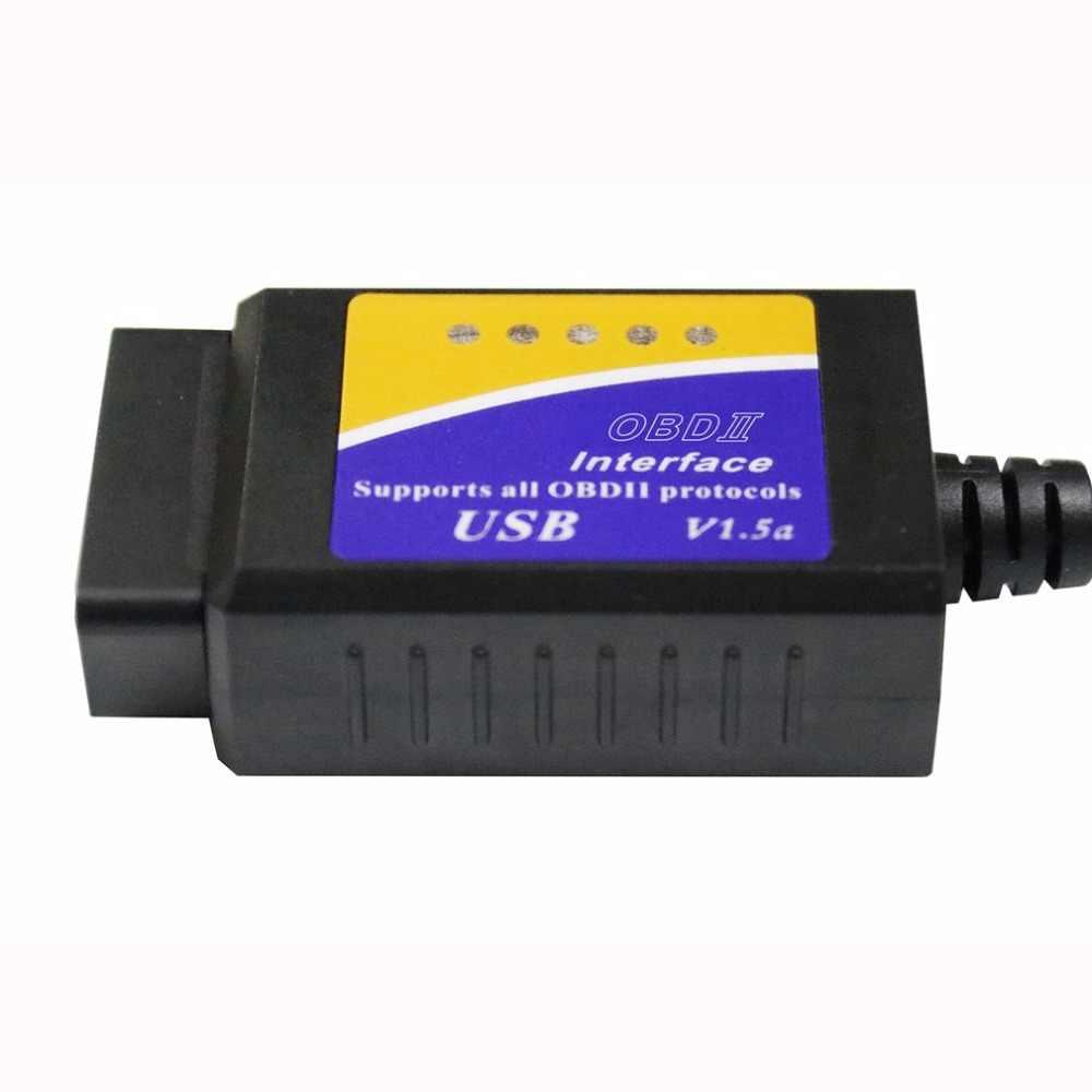 ELM327 USB OBD2 Otomatik araç Teşhis Aracı ELM 327 V1.5 USB Arabirimi OBDII CAN-BUS Tarayıcı sıcak satış ~ sıcak