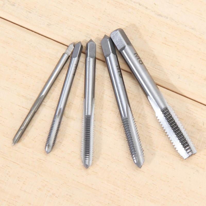 Вилка кран комплект 5 шт./компл. HSS M3 M4 M5 M6 M8 Наша продукция включает в себя спираль точки прямо рифленый винт нитки метрической зажигания сверла набор ручных инструментов