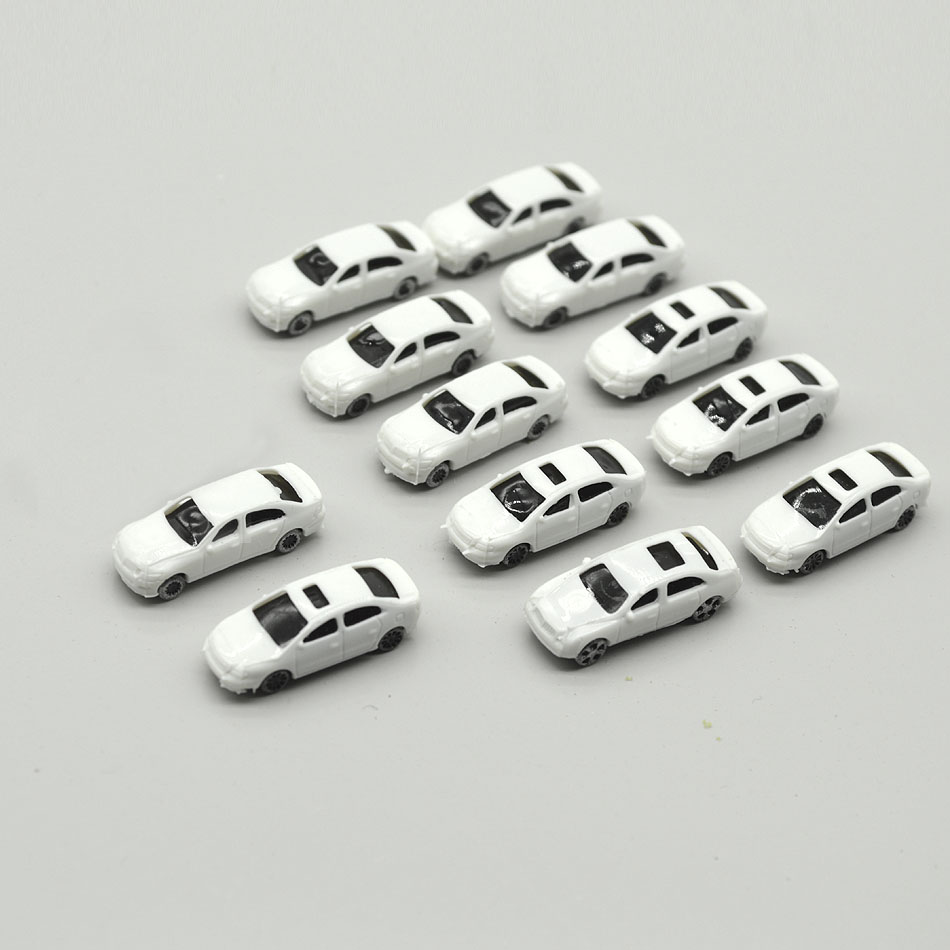 100pcs Architecture Scale Model White Car 1 200 Miniature Unpainted Cars For Diorama Construction Road Scene Making Layout Kits in Model Building Kits from Toys Hobbies