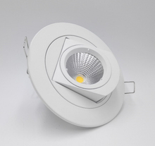 цена на Hot!!! Adjustable 15W Warm white/Natural white/Cold White COB LED Gimbal Embedded led trunk lamp Round COB shoplighter AC85-265V