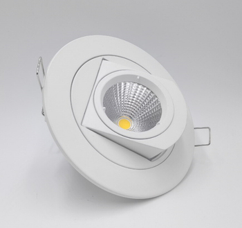 Hot!!! Adjustable 15W Warm white/Natural white/Cold White COB LED Gimbal Embedded led trunk lamp Round shoplighter AC85-265V