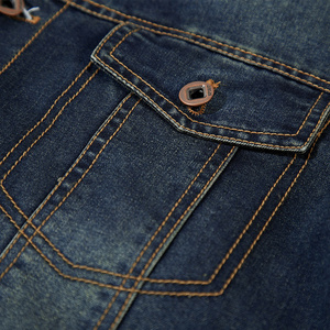 Image 5 - DAVYDAISY 2019 New Arrival Denim Jacket Men Washed Cowboy Stand Collar Hip Hop Ripped Street Designer Men Jeans Coat DCT 231